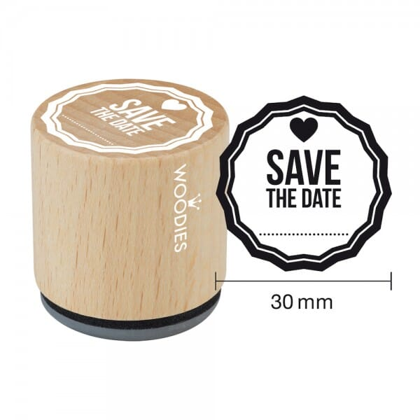 Woodies Stempel - Save the Date Motiv 2 W03006