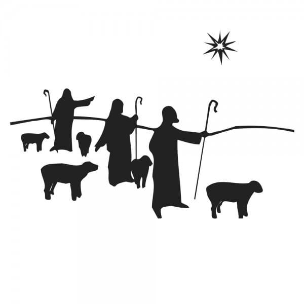 Weihnachten Holzstempel - Hirten (40x30 mm)