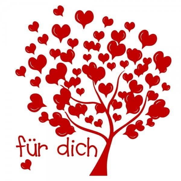 Liebe Holzstempel - Baum (Ø 40 mm)