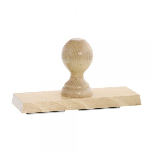 Holzstempel (180x60 mm - 12 Zeilen)