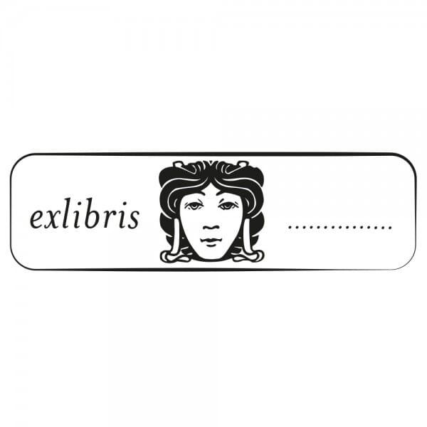 Exlibris Holzstempel - Motiv 1 (70x20 mm)