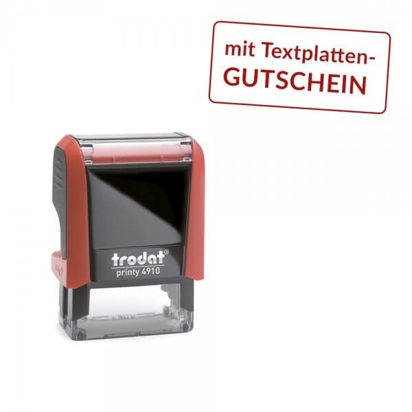 Trodat Printy 4910 mit Textplattengutschein (26x9 mm - 3 Zeilen)
