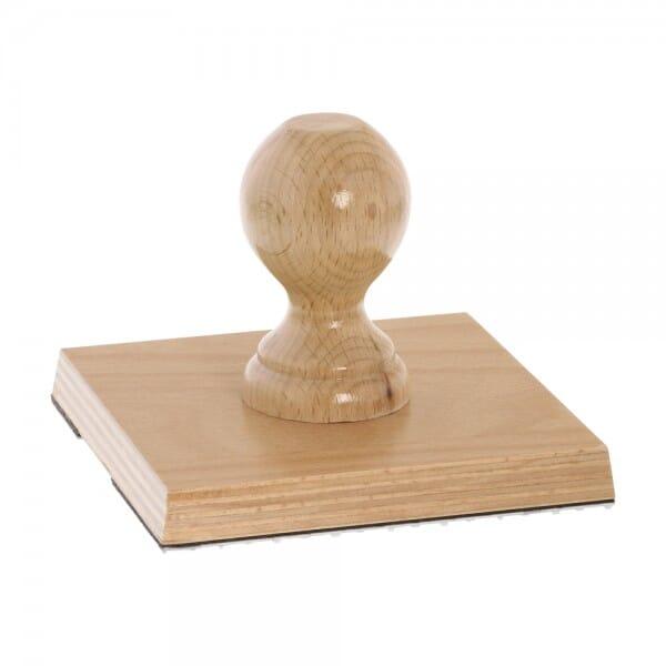 Holzstempel (130x130 mm - 26 Zeilen)