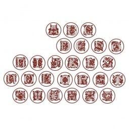 Monogrammstempel-Set