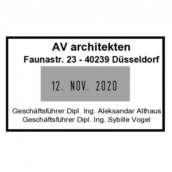 Trodat Classic Datumstempel 2910/P01 (50x30 mm - 4 Zeilen)