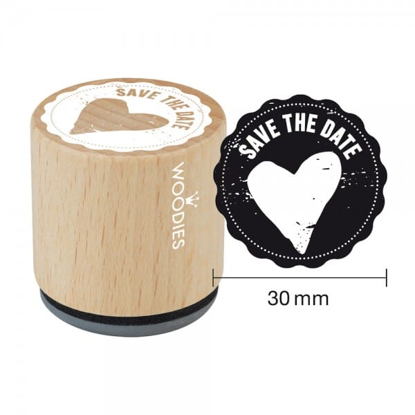Woodies Stempel - Save the date Motiv 1 W03007