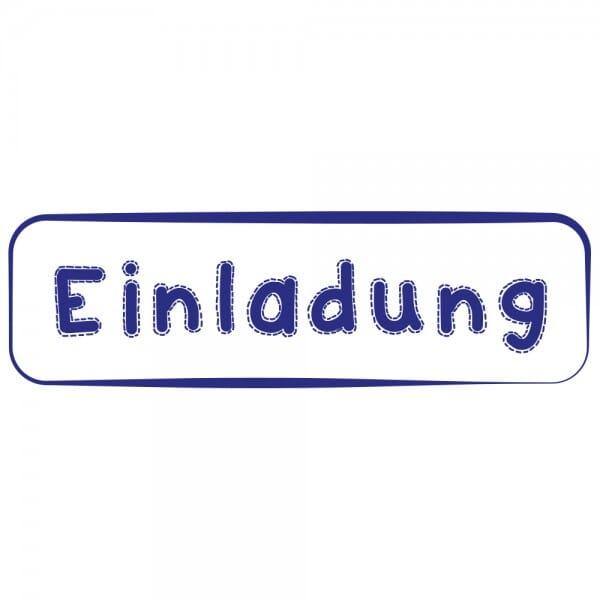 Feierlichkeiten Holzstempel - Einladung (70x20 mm)