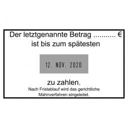 Colop Platten-Datumstempel P 700/17 (70x40 mm - 8 Zeilen)