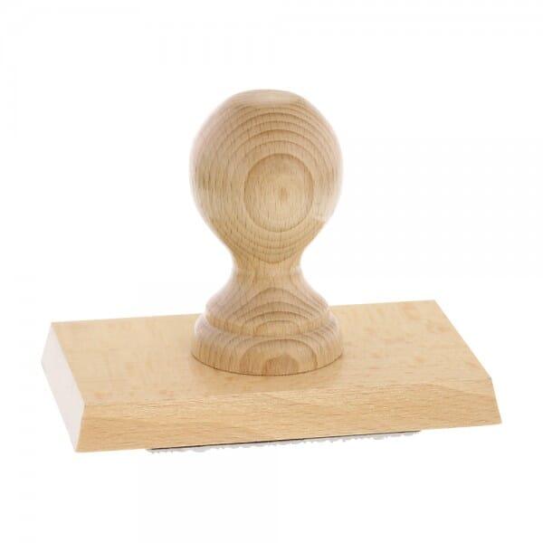 Holzstempel (130x80 mm - 16 Zeilen)