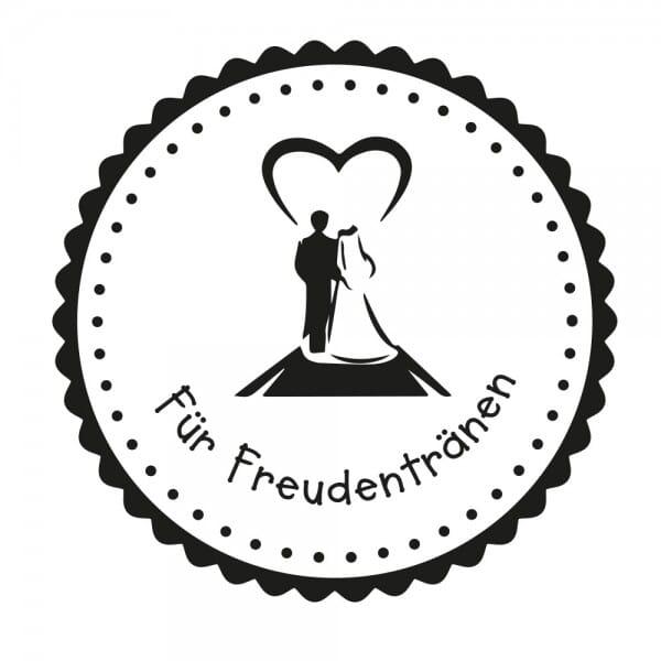 Hochzeitsstempel - Freudentränen - Paar (Ø 40 mm)