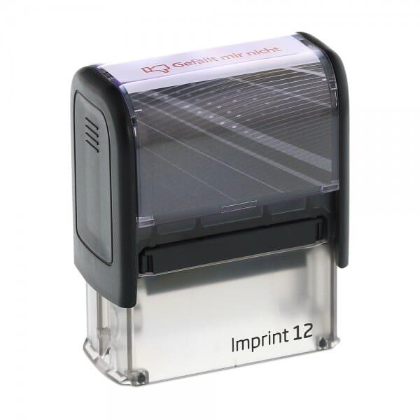 """Dormy Imprint 12 """"Gefällt mir nicht"""" (47x14 mm)"""