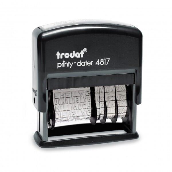 Trodat Printy 4817/P2 Dater und Wochentage (25x3,8 mm)