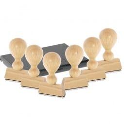 AKTION - Holzstempel - Set Wochentage (40x10 mm)