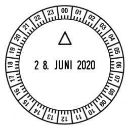 Trodat Classic Uhrzeitstempel 2910/U1-24 (ø 50 mm)