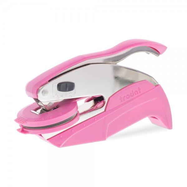Trodat Ideal Prägezange pink (41 mm rund - 5 Zeilen)