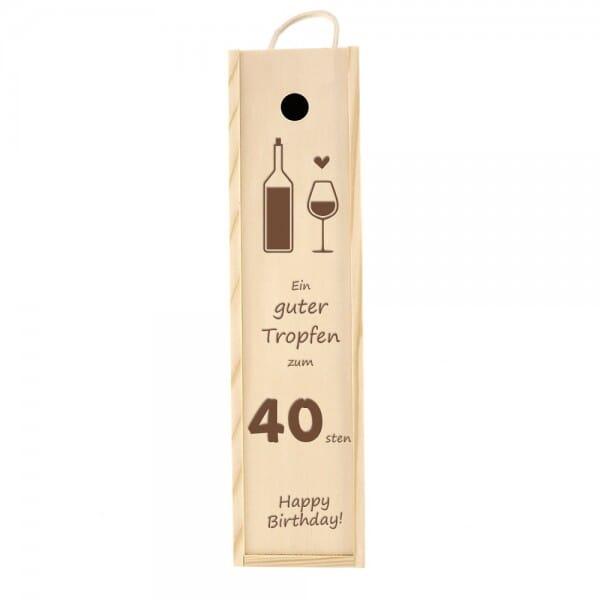 Weinkiste/Geschenkkiste zum 40. Geburtstag