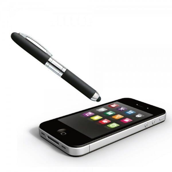 Heri Promesa Stamp & Touch Pen 80321 Füllfederhalter schwarz (33x8 mm - 3 Zeilen)