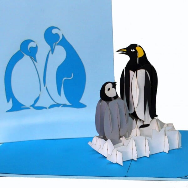 Colognecards Pop-Up Karte Pinguine