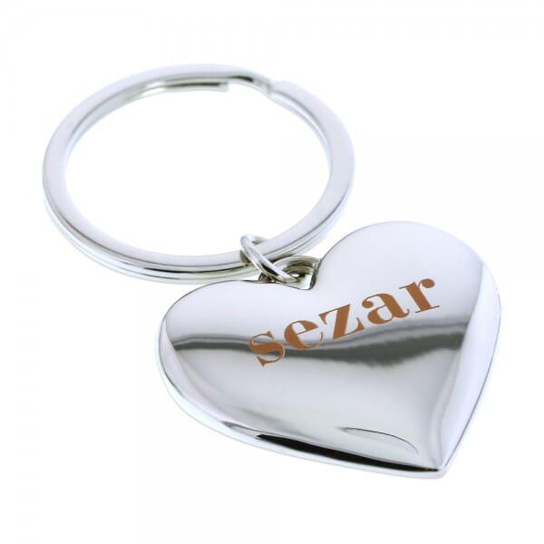 Schlüsselanhänger Herz (Gravurmaß 22x15 mm)
