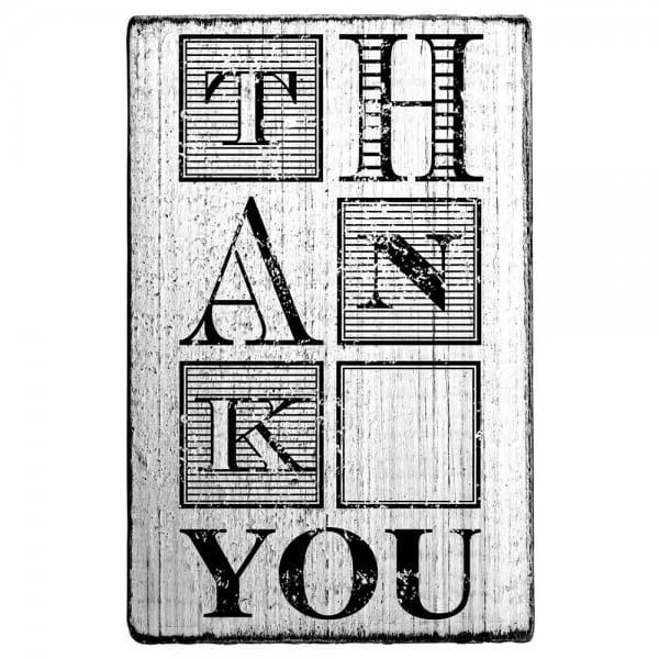 "Vintage Stempel ""THANK YOU"" Motiv 1"