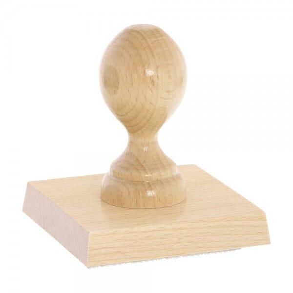 Holzstempel (90x90 mm - 18 Zeilen)