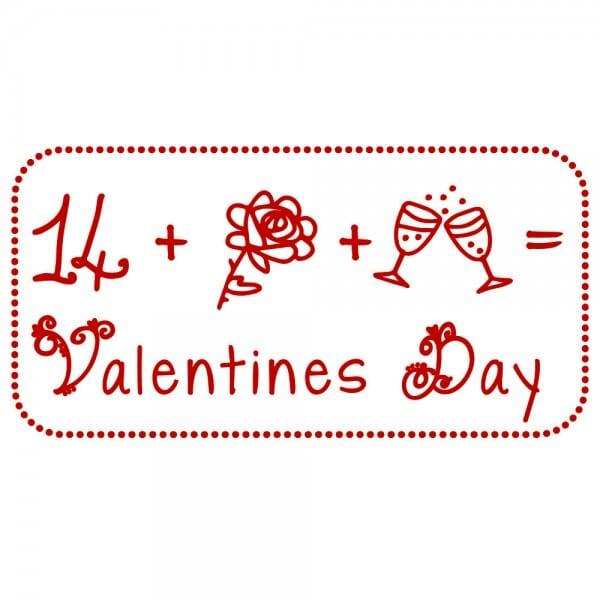 Liebe Holzstempel - Valentines Day (60x30 mm)