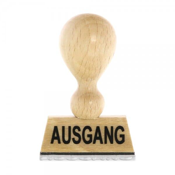 Holzstempel AUSGANG (40x10 mm - 1 Zeile)
