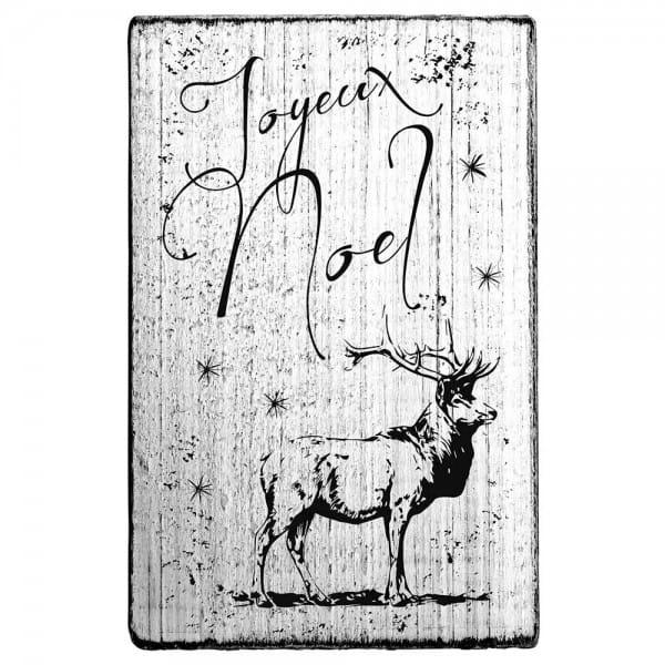 """Vintage Stempel """"Joyeux Noël """"- Hirsch"""