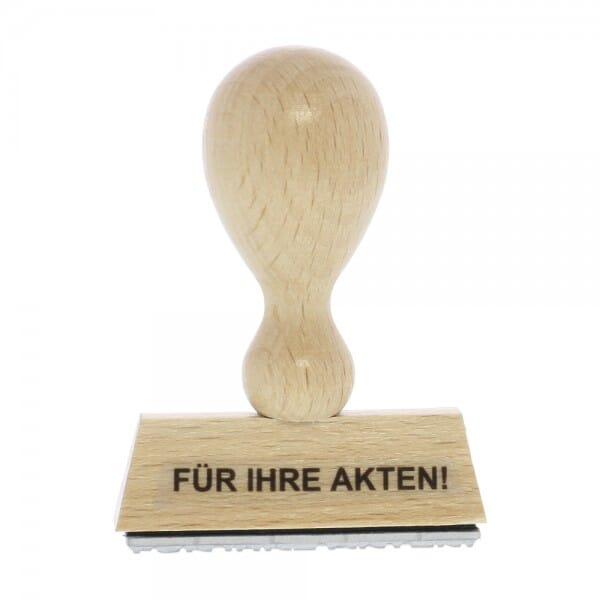 Holzstempel FÜR IHRE AKTEN (50x10 mm - 1 Zeile)