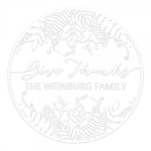 Monogramm-Prägezange 51 mm rund - Natur
