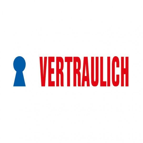 "AKTION - Trodat Office Printy Textstempel ""Vertraulich"" 4912 (47x18 mm)"