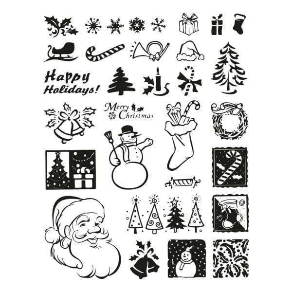 SALE - Clearstempel - Set Weihnachten