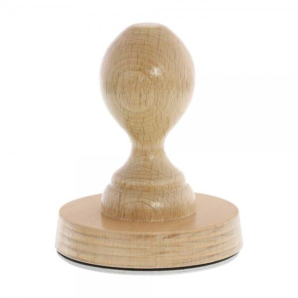 Holzstempel rund (Ø 80 mm - 16 Zeilen)