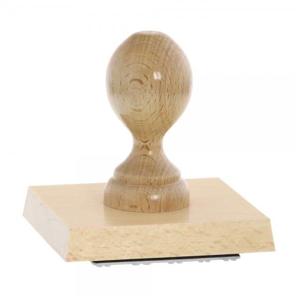 Holzstempel (100x90 mm - 18 Zeilen)