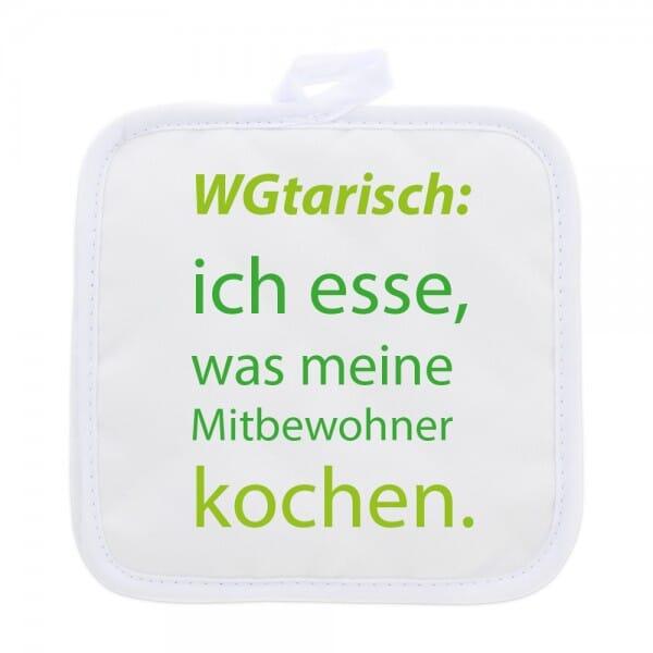"""Topflappen (2 Stück) für Studenten """"WGtarisch"""""""