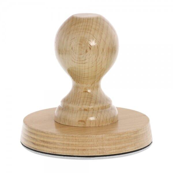 Holzstempel rund (Ø 100 mm - 20 Zeilen)