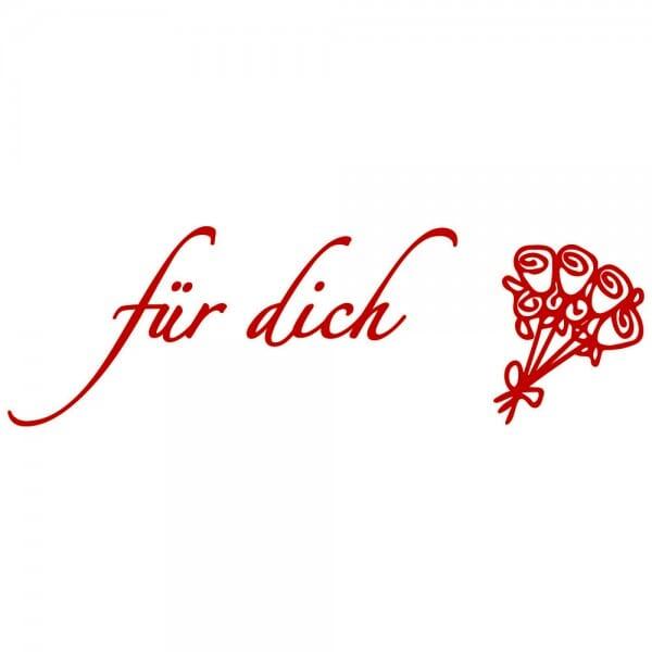 Liebe Holzstempel - Für Dich (70x20 mm)