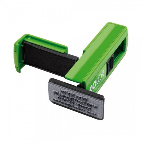 Colop Pocket Stamp Plus 20 Green Line (38x14 mm - 4 Zeilen)