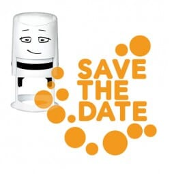 NIO Stempelmotiv - save the date-dots