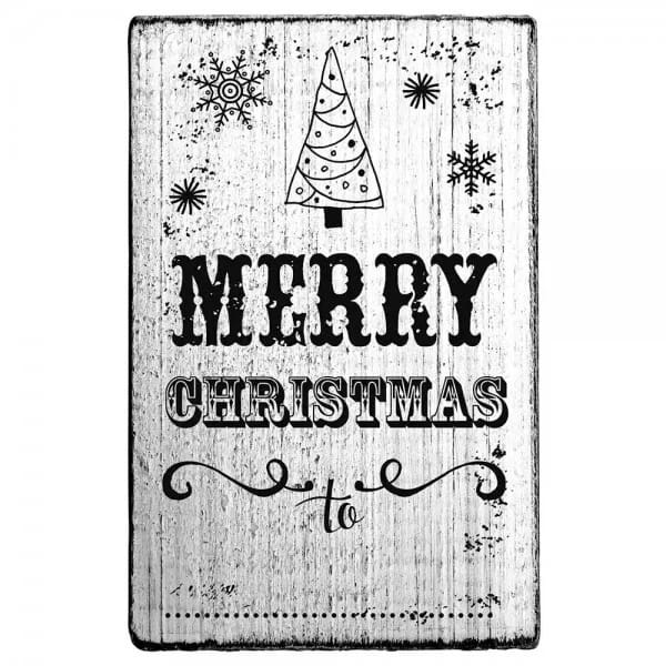 "Vintage Stempel ""Merry Christmas"" - Tannenbaum 2"