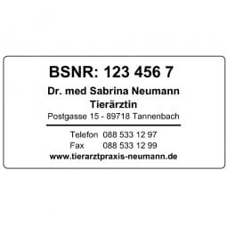 Arztstempel - Colop Printer 60M antibakteriell (76x37 mm - 8 Zeilen)