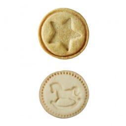 Stempelscheiben Set für Keksstempel - Schaukelpferd und Stern (Ø50 mm)