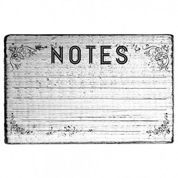 "Vintage Stempel ""Notes"""