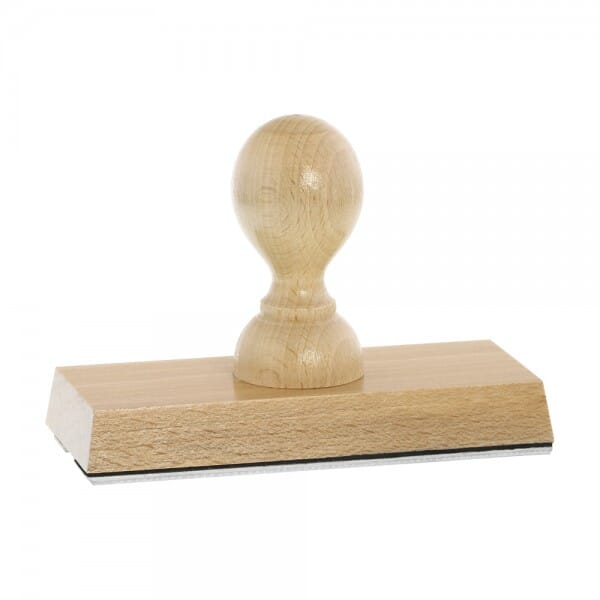 Holzstempel (120x50 mm - 9 Zeilen)