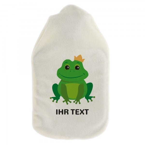 """Wärmflasche """"Frosch"""" inkl. individueller Druck"""