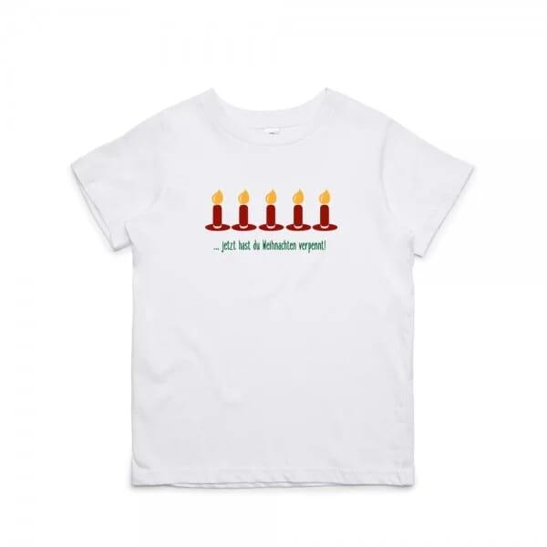 """Kinder T- Shirt """"Weihnachten verpennt!"""""""