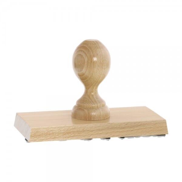Holzstempel (150x70 mm - 17 Zeilen)