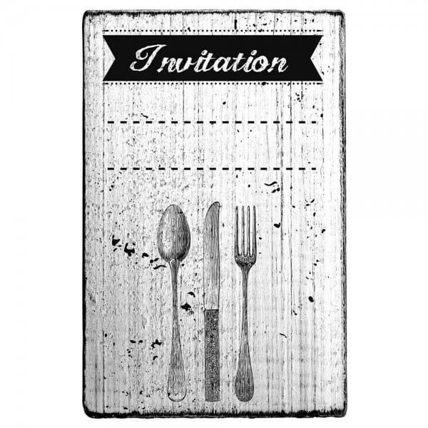 "Vintage Stempel ""Invitation""- Besteck 3"