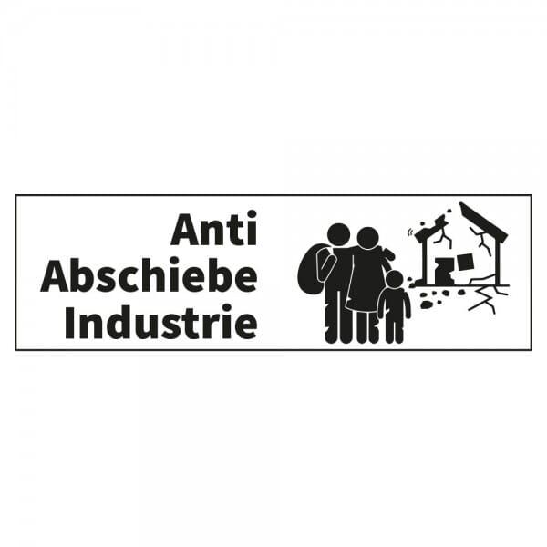 Anti-Abschiebe-Industrie 2, Unwort des Jahres 2018 - Dormy Imprint 12 (47x14 mm)