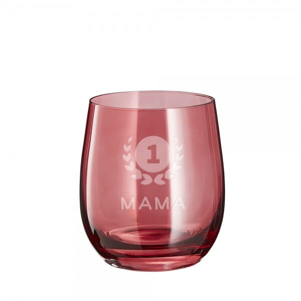 "Lasergraviertes Glas klein ""Mama number one"" - Leonardo®"